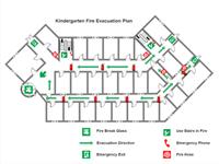 Kindergarten Evakuierung