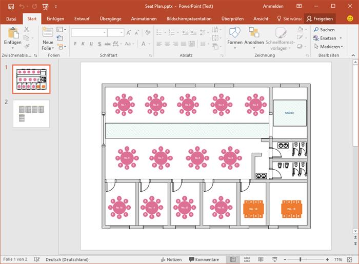 PowerPoint sitzordnung Vorlagen