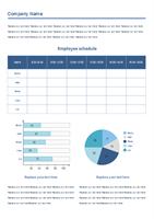 Arbeitszeitplan  Beispiel