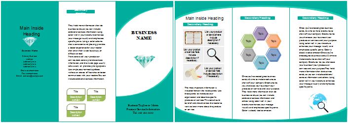 Broschüre Vorlagen - Vermarktung