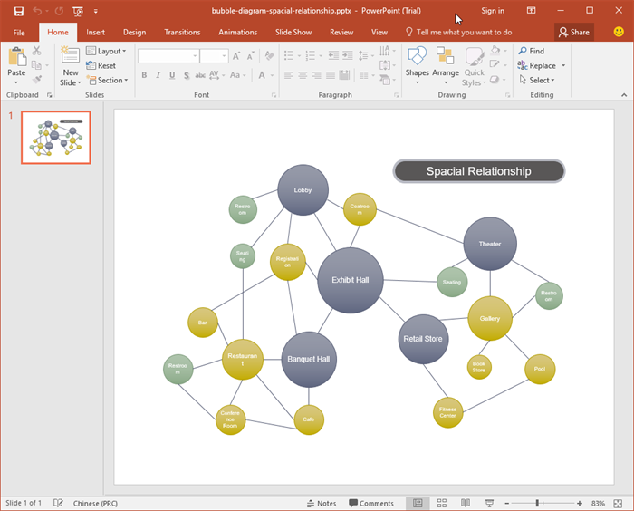PowerPoint Concept Map Vorlagen