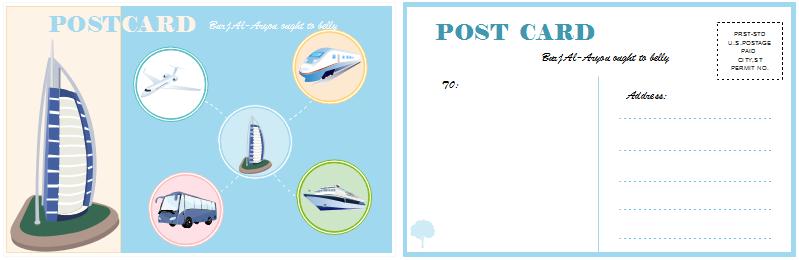 Postkarte Beispiele