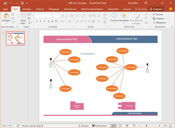 PowerPoint UML-Diagramm Beispiel