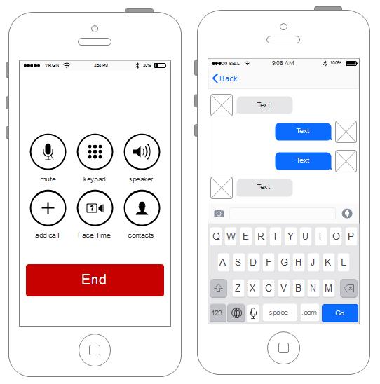 Iphone UI Wireframe Beispiel