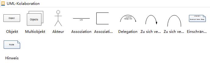 Kollaborationsdiagramm-Symbole
