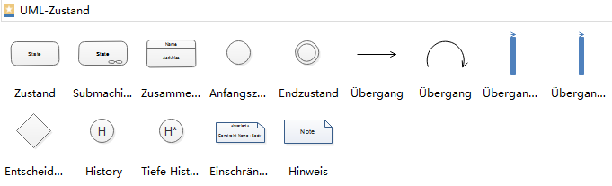 Zustandsdiagramm-Symbole