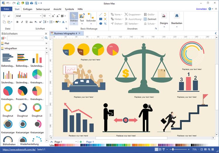 Geschäft Infografiken Software
