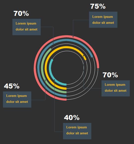 Infografik-Kontrast-Farben