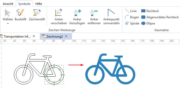 Benutzerdefinierte Symbole zeichnen