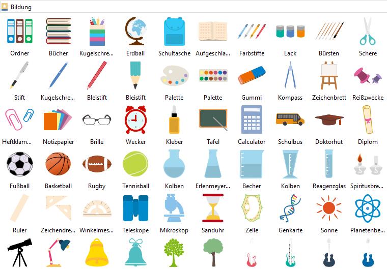 Elemente der Bildung Infografiken