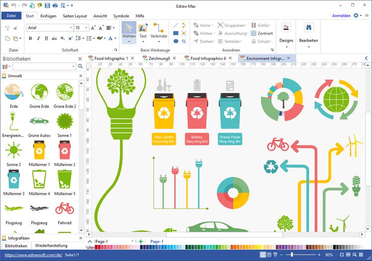 Umwelt Infografiken Software