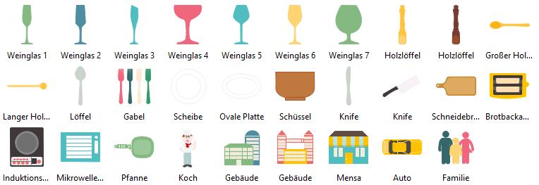 Infografiken Elemente - Essen