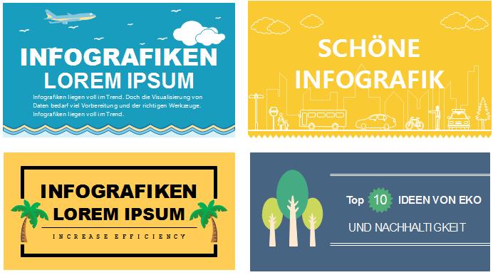 Infografiken Headlines Verzierungen Design