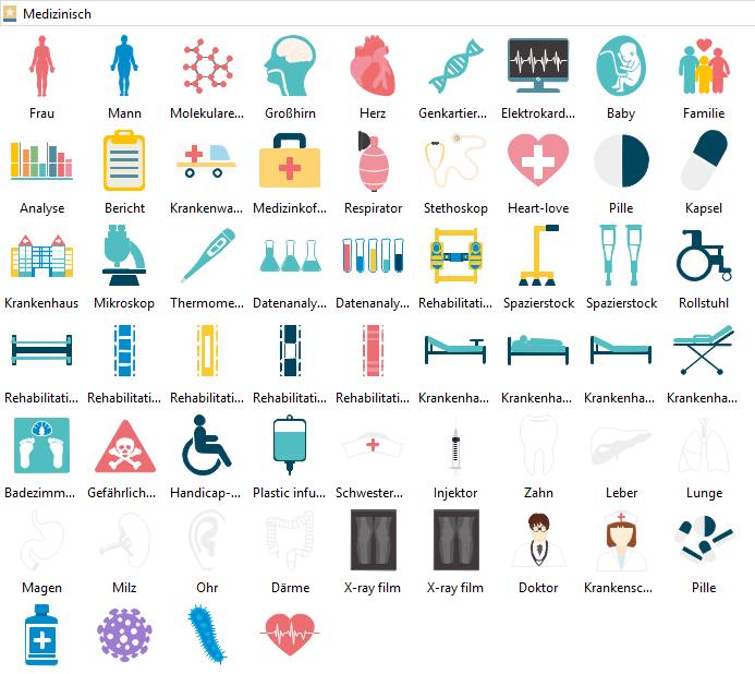 medizinische Infografiken Elemente