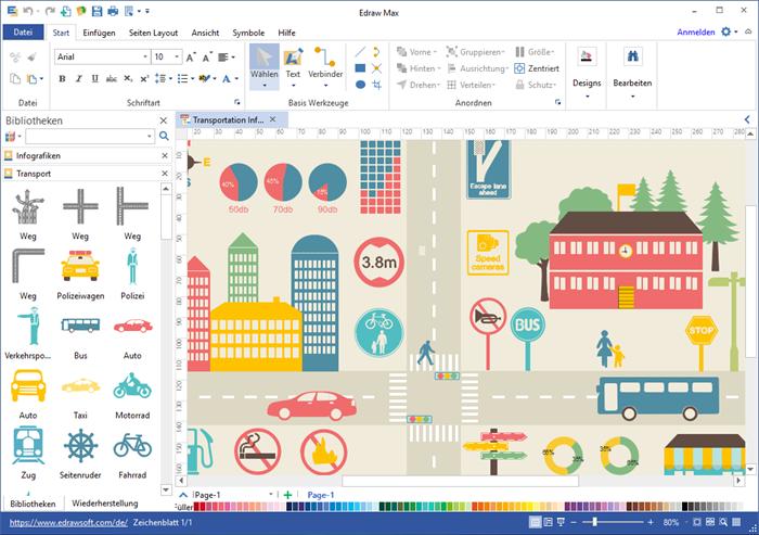Verkehr Infografiken Software