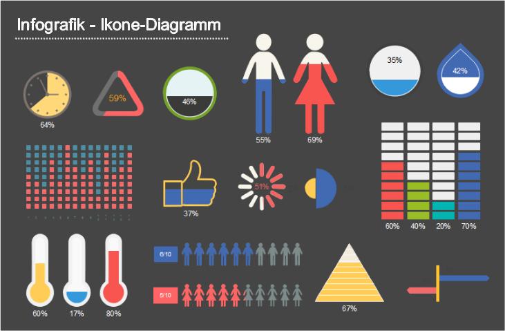 Infografiken -  Ikone-Diagramm
