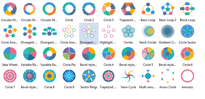 Circular Diagram Symbols