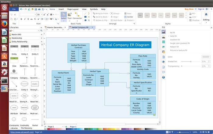 ER Diagram Software for Linux