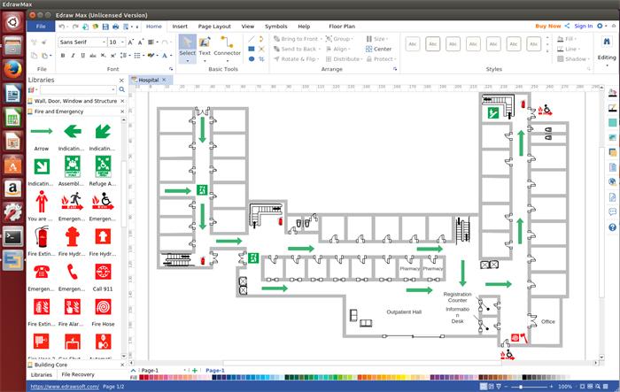 Linux Fire Evacuation Diagram Software
