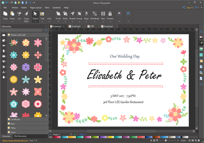 Lay Out Invitation Card