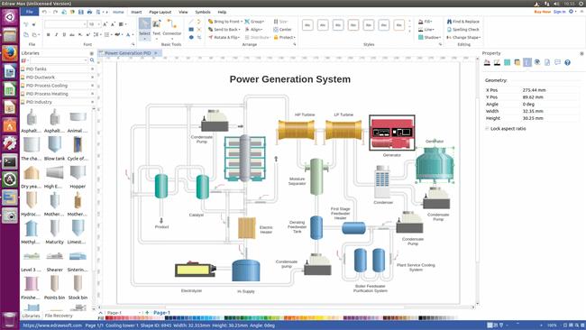 P&ID Software für Linux - Programm für Rohrleitungs- und Instrumentenfließschema