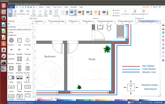 Plumbing and Piping Plan Software for Linux