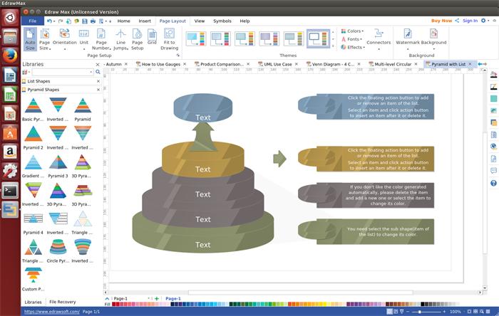 Pyramid Diagramm Software für Linux