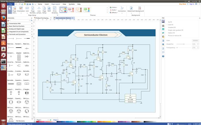 Schaltplan Software für Linux