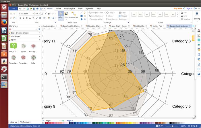 Spinnen Diagramm Softawre für Linux