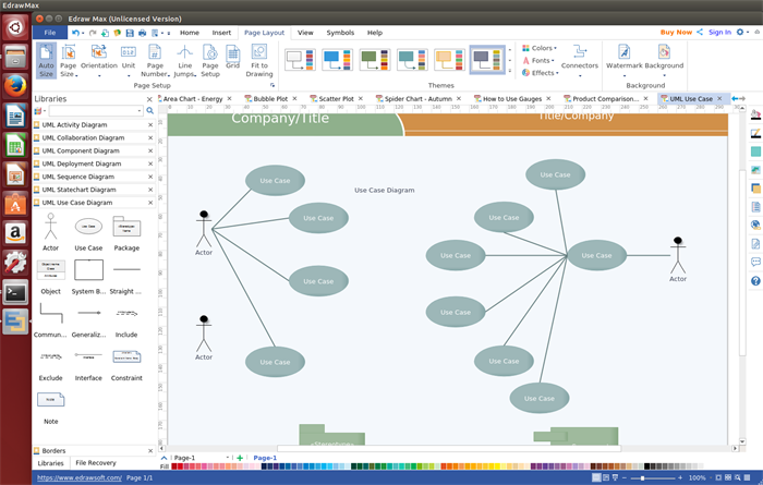 Anwendungsfalldiagramm Software für Linux