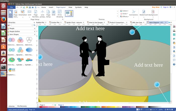 Venn Diagram Software für Linux