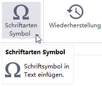 Schriftartsymbol Button MindMaster