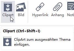 Insert Clipart Button MindMaster