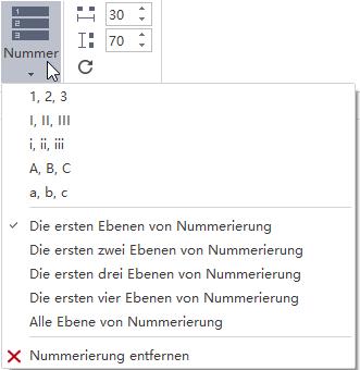 Nummerierung hinzufügen Mindmap