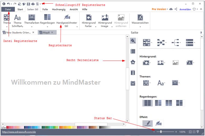 mindmaster interface details