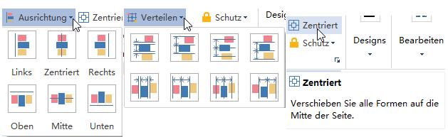 UML-Diagramm-Formen auslegen