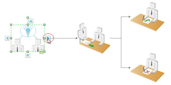 Arbeitsablaufdiagramm-Formen verbinden