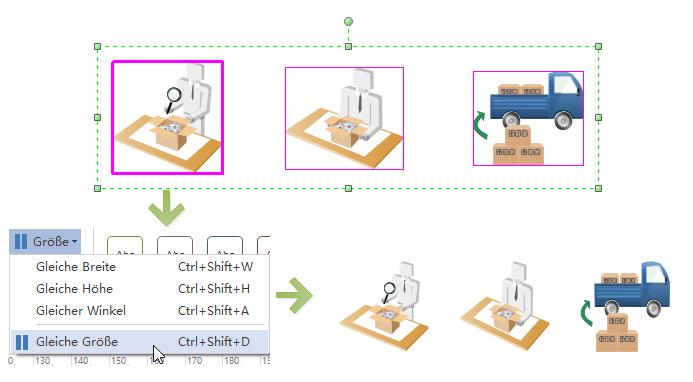 Arbeitsablaufdiagramm-Formen einfügen
