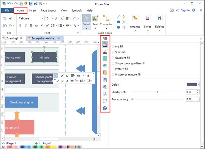 enterprise architecture diagram editing tools