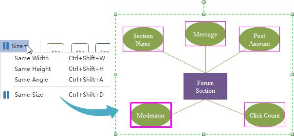 Create er diagram on mac easily er diagram same size ccuart Gallery