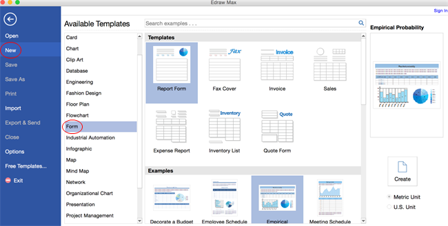 Software de Formulario comercial para Mac
