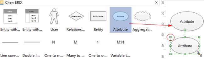 Agregar formas de diagrama ER