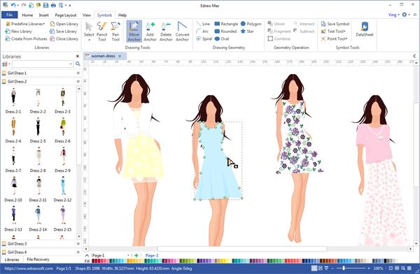 Programa de escritorio de diseño de moda
