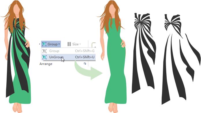 Agregar formas de diseño de moda