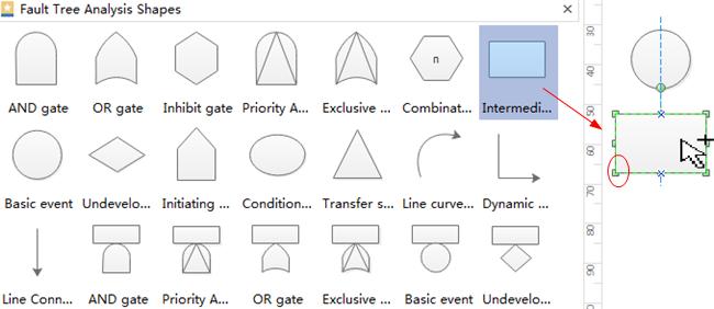 Agregar formas de diagrama de árbol de fallas