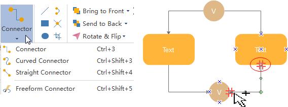 Conectar formas de diagrama de árbol de fallas