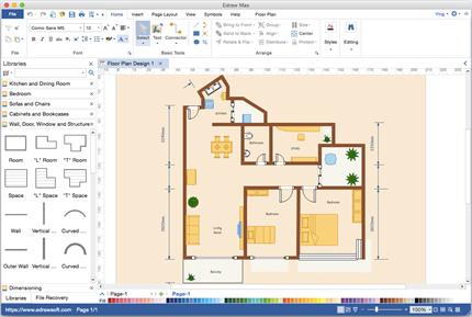 software de plano de planta para mac. Black Bedroom Furniture Sets. Home Design Ideas