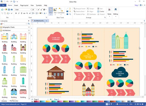 Programa de escritorio de infografías