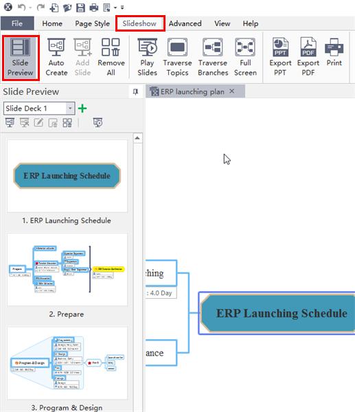 editar diapositiva en mindmaster 6.0