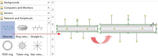 Agregar formas de diagrama de red